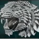 airbrush tijger